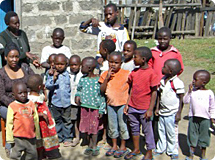 Children of the Cecelian Orphans Home in Kenya